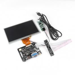 7 Inch TFT Touch Screen LCD Monitor for Raspberry Pi+Driver Board HDMI VGA 2AV