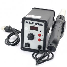 WEP AT858D (110V) Hot Air Rework Soldering Station, Suitable For SMD, SOIC, CHIP, QFP, PLCC, BGA