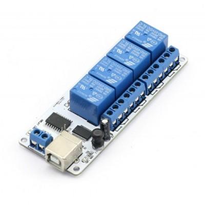SainSmart 4-channel 5V USB Relay Board Module Controller For Automation Robotics