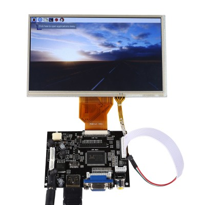 "SainSmart 7"" LCD Display Touch Screen TFT Monitor AT070TN90 with HDMI VGA Input Driver Board Controller for Raspberry Pi 2 / Pi 3 Model B"