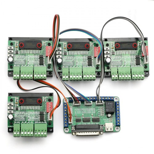 New 4 Axis Tb6560 Cnc Stepper Motor Driver Controller Board Kit 57 Two Phase 3a 3d Printing