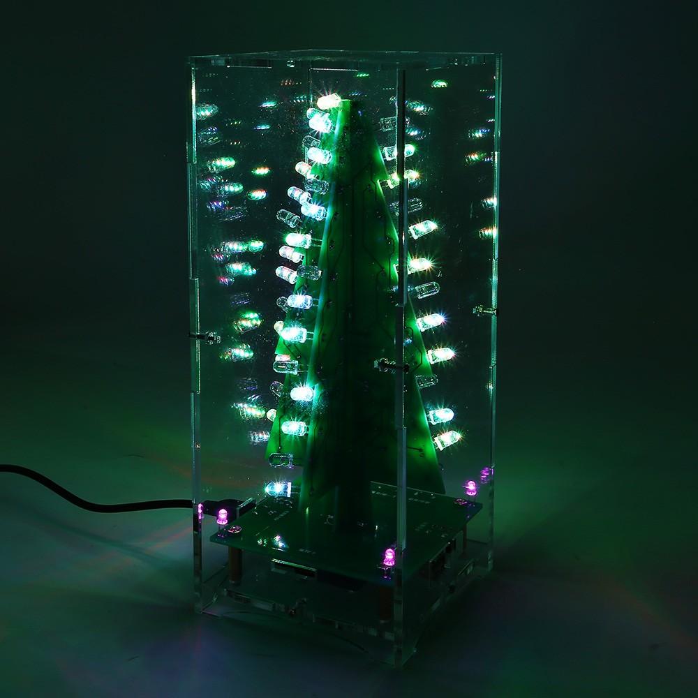 Christmas Tree LED Flashing 3D DIY Electronic Learning Kit