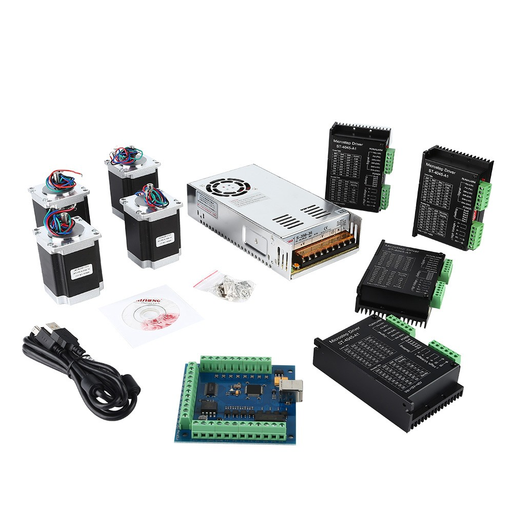 Cnc 4 Axis Kit 6 With St 4045 Motor Driver Usb Controller