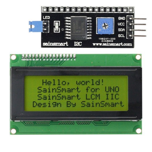 Sainsmart iic i c twi serial yellow lcd module