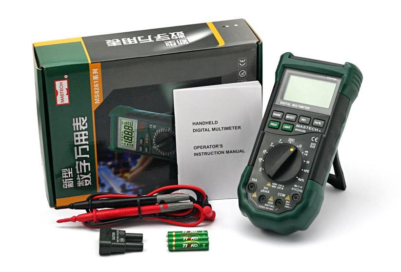 Etek Digital Multimeter : Mastech ms lcd auto digital electrical multimeter ac