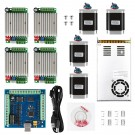 CNC 4-Axis Kit 4 with TB6600 Motor Driver Mach3, USB Controller Card, Nema23 Stepper Motor and 24V Power Supply