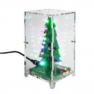 Christmas Tree LED Flash Kit 3D DIY Electronic Learning Kit Colorful Lights 7 Colors Gift