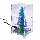 Christmas Tree LED Flash Kit 3D DIY Electronic Learning Kit Colorful Lights 3 Colors Gift