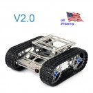 SainSmart Metal Robot Chassis Track Arduino Tank Chassis Wali w/ Motor Stainless Steel for UNO MEGA2560 V2.0