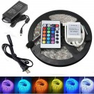 16.4ft / 5M Waterproof LED Strip Light Kit, 300 LEDs SMD5050 with 24 Keys / 44 Keys IR Remote Controller and 12V 5A Power Supply