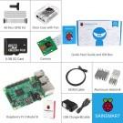 Raspberry Pi 3 Camera Kit - Clear Case Cooling Fan SD Card Breadboard HDMI GPIO