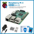 SainSmart Raspberry Pi 3 Basic Kit : 3x Heat Sinks + USB Power Supply (UL Listed) Tutorials&Codes