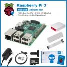 SainSmart Raspberry Pi 3 Ultimate Kit : Red&White Case + SD Card + Breadboard + HDMI + 40 Pins GPIO + Aluminium Heatsink