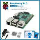 SainSmart Raspberry Pi 3 Basic Kit : 3x Heat Sinks + USB Power Supply EU (CE) Tutorials&Codes