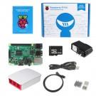 Raspberry Pi 3 -QUAD Core Red & White Case SD Heatsink HDMI Complete Kit – (2016 Model)