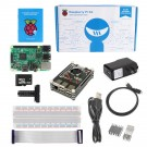 Raspberry Pi 3 Ultimate Kit - Black Rainbow Case SD Card Breadboard HDMI GPIO USB Charger
