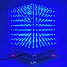 SainSmart 3D LightSquared DIY Kit 8x8x8 5mm LED Cube White LED Blue Square Music MP3 Lamp