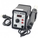WEP AT858D (220V) Hot Air Rework Soldering Station, Suitable For SMD, SOIC, CHIP, QFP, PLCC, BGA (AU Standard)