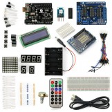 SainSmart UNO R3+L293D Motor Drive Shield Starter Kit With Basic Arduino Projects