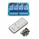 SainSmart 4-CH Relay Module Infrared Remote Controllor IR Receiver 5V + 4-CH Relay Module