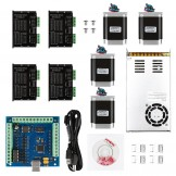 CNC 4-Axis Kit 6 with ST-4045 Motor Driver, USB Controller Card, Nema23 Stepper Motor and 24V Power Supply