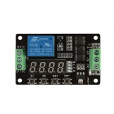 SainSmart 12V DC Multifunction Self-lock Relay PLC Cycle Delay Time Timer Switch Module