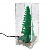 Christmas Tree LED Flashing 3D DIY Electronic Learning Kit with MP3 Music Box Colorful Lights 7 Colors