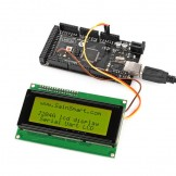 SainSmart TTL Serial Enabled 2004 20X4 LCD for Arduino, 5V, Yellow Backlit Screen