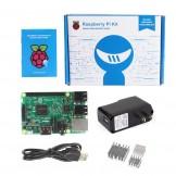 RASPBERRY Pi 3 Model B 1.2GHz Quad Core 64Bit 1GB RAM + USB Power Supply + 3x Heatsink Basic Kit (2016 Model)