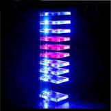 New DIY Dream Crystal Electronic Column Light Cube LED Music Voice Spectrum Kit