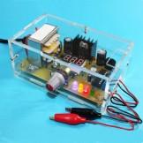 New 110V DIY LM317 Adjustable Voltage Power Supply Board Kit With Case