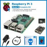 SainSmart Raspberry Pi 3 Complete Kit : Black Rainbow Case + SD Card + HDMI + HeatSinks + USB Power Supply