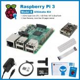 SainSmart Raspberry Pi 3 Ultimate Kit : Black Rainbow Case + SD Card + Breadboard + HDMI + 40 Pins GPIO + Aluminium Heatsink