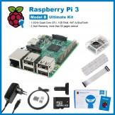 SainSmart Raspberry Pi 3 Ultimate Kit : Case with Fan + SD Card + Breadboard + HDMI + 40 Pins GPIO + Aluminium Heatsink