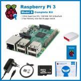 SainSmart Raspberry Pi 3 Complete Kit : Red&White Case + SD Card + HDMI + HeatSinks + USB Power Supply EU