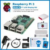 "SainSmart Raspberry Pi 3 Ultimate LCD Kit : 5"" LCD + Case + SD Card + Breadboard + HDMI + GPIO + Aluminium Heatsink + USB Power Supply"