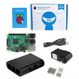 SainSmart Raspberry Pi 3 - QUAD Core Black Case 3x Heatsink Starter Kit – (2016 Model)