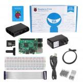 Raspberry Pi 3 Kit - Black ABS Case 8GB SD Card Breadboard HDMI GPIO USB Charger