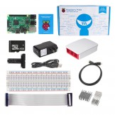 Raspberry Pi 3 Ultimate Kit - Red & White  Case SD Card Breadboard HDMI GPIO USB Charger