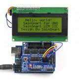 SainSmart UNO + Sensor V5 + LCD2004 Yellow for Arduino UNO MEGA R3 Mega2560 Duemilanove Nano Robot