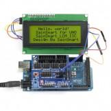 SainSmart 2560 + Sensor V5 + LCD2004 Yellow for Arduino UNO MEGA R3 Mega2560 Duemilanove Nano Robot