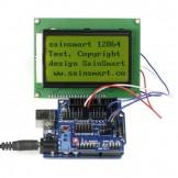 SainSmart UNO + Sensor V5 + LCD12864 Yellow for Arduino UNO MEGA R3 Mega2560 Duemilanove Nano Robot