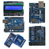 SainSmart UNO + SainSmart LCD Keypad Shield + SainSmart XBee Shield + SainSmart Sensor Shield V4 + SainSmart Ethernet Shield For Arduino