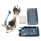 SainSmart Mega2560 + SainSmart Prototype Shield V3 with Breadboard Jump Wires For Arduino UNO ATMEL MEGA