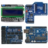 SainSmart Arduino UNO + SainSmart LCD Keypad Shield + SainSmart XBee Shield + SainSmart Sensor Shield V4 For Arduino