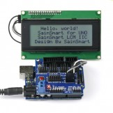 SainSmart UNO + Sensor V5 + LCD2004 White for Arduino UNO MEGA R3 Mega2560 Duemilanove Nano Robot