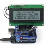 SainSmart 2560 + Sensor V5 + LCD2004 White for Arduino UNO MEGA R3 Mega2560 Duemilanove Nano Robot