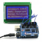 SainSmart UNO +12864 Graphic Blue LCD + Sensor Shield V5 for Arduino UNO MEGA R3 ATMEL AVR
