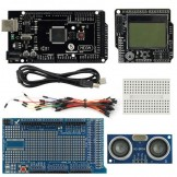 SainSmart Mega2560 R3+LCD4884+Prototype Shield+HC-SR04, Ultrasonic Sensor For Arduino