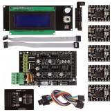 Smart LCD 2004 Controller A4988 + RAMPS 1.4 SD Ramps Breakout 3D Printer Kit